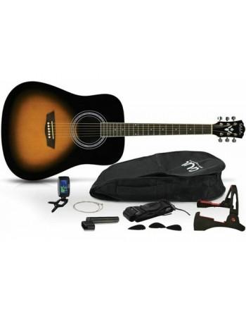 Pack Guitarra Whashburn Acustica