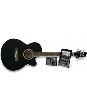 Guitarra E/A stagg con afinador.